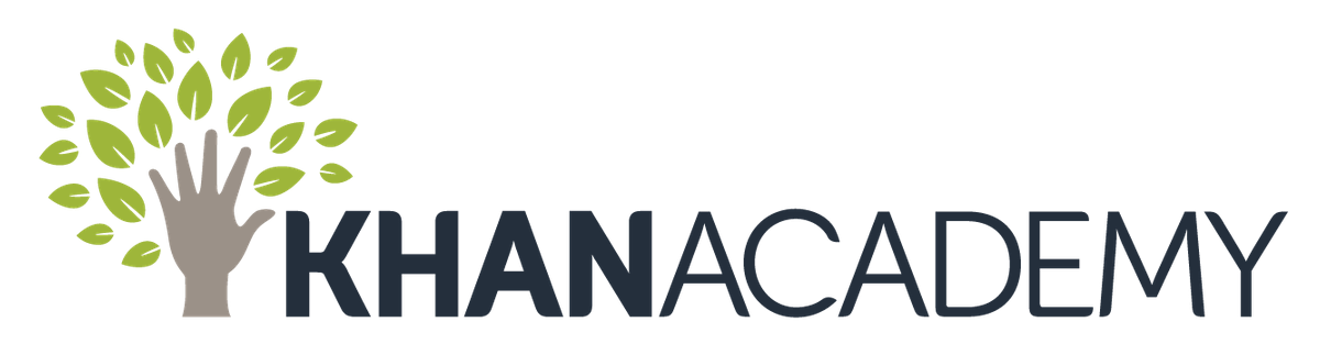 Khan Academy logo with link to Khan Academy